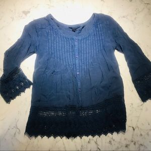 NEW American Eagle Outfitters Blue Boho Top